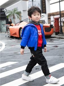 棉之子童装棉之子童装蓝色羽绒衣