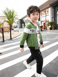 棉之子童装棉之子童装绿色棒球衫