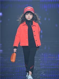 西萌叮童装西萌叮Smartin新款红色外套