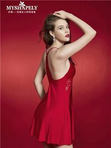 纤美内衣红色居家服