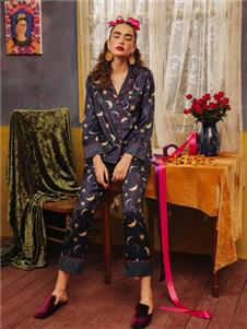 娜摩米内衣蓝色月亮居家服
