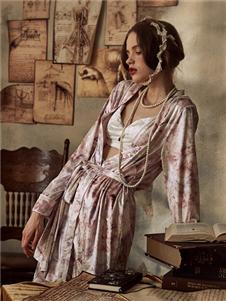 娜摩米内衣晕染睡袍