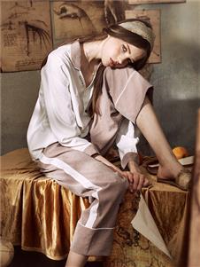娜摩米内衣纯色居家服