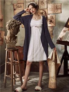 娜摩米内衣白色睡裙居家服