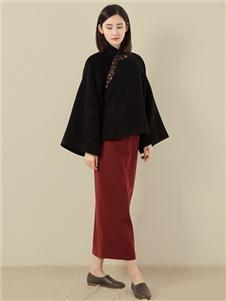 東景記女装中国风喇叭袖女上衣立领短外套改良中式复古宽松唐装汉服