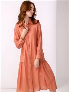 尚来女装新款衬衫裙