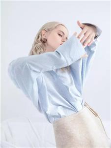 艾思際女裝藍色襯衫
