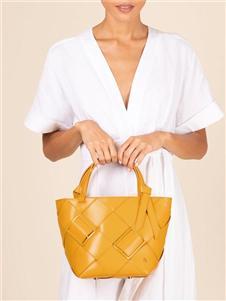 爱格纳黄色大容量手提包
