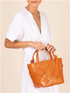 爱格纳棕色大容量手提包