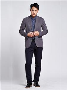 马威男装深灰色西装外套