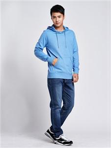 马威男装蓝色卫衣