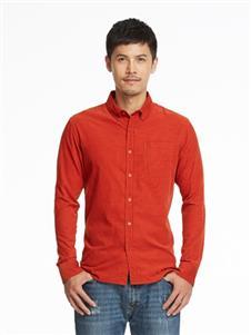 马威男装橘色衬衫