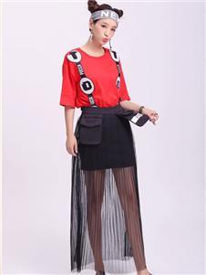 中国娃娃黑色纱裙
