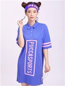 中国娃娃春紫色连衣裙