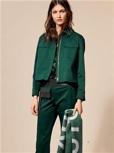 Laurèl女裝綠色休閑套裝