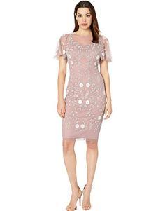 安妮克莱因粉色连衣裙
