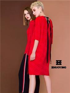 琢盈紅色連衣裙