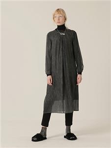 茶愫女装新款纱制长款上衣