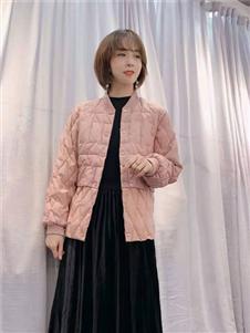 DUWAI独外新款粉色羽绒服