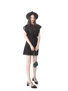 光线花园女装黑色连衣裙