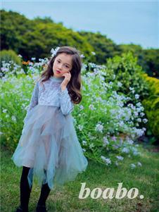 宝儿宝boabo童装灰色甜美公主裙