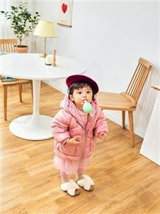 宝儿宝boabo童装粉色羽绒衣