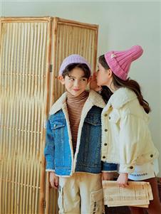 宝儿宝boabo童装时尚加绒牛仔外套