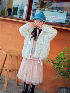 宝儿宝boabo童装纯色亮面外套