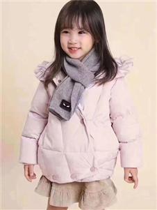 小嗨皮童装粉色甜美羽绒衣