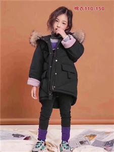 小嗨皮童装黑色保暖加厚羽绒服