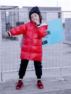 欧米源童装中长款立领保暖面包服