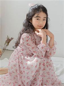 唯心至愛童裝2019秋冬款碎花公主裙