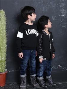 威斯米童装威斯米童装2019新款黑色字母卫衣