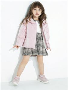 时尚小鱼童装时尚小鱼童装2019秋冬款粉色轻薄保暖羽绒服