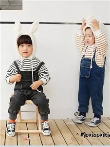 莫小汐童装2019秋冬款吊带工装裤