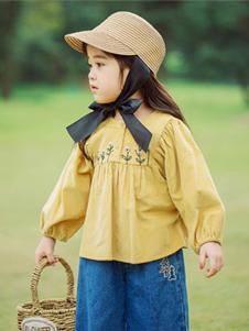 BB.T蚌蚌唐童装2019秋冬款黄色娃娃衫