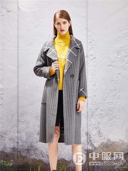 YOSUM2019新款灰色大衣