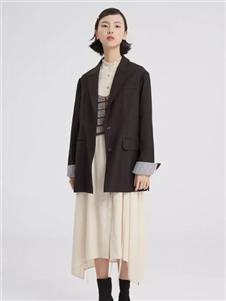 theMSLAN女裝2019秋冬裝短款西裝外套