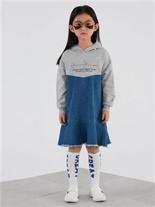 因否童装因否IN.F KIDS童装2019秋冬装休闲连衣裙