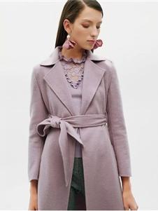 红贝缇女装2019紫色大衣