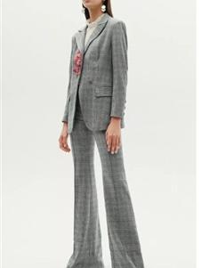 红贝缇女装2019灰色西装外套