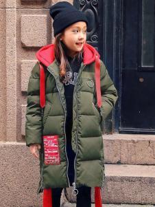 衣衣熊童裝秋冬新款連帽羽絨服