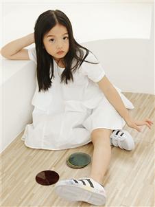 子穆童裝白色連衣裙