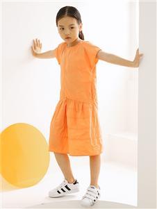 子穆童裝橙色連衣裙