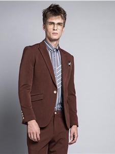 格度佐致2019咖色西装套装