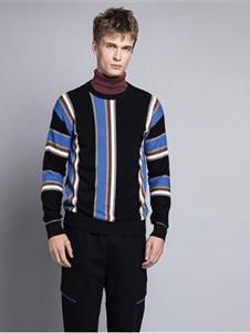 格度佐致2019条纹针织衫