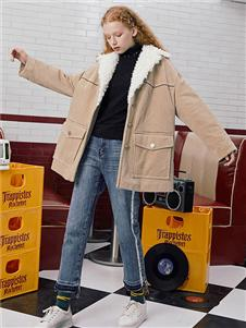 Jamor2019秋冬裝加絨外套