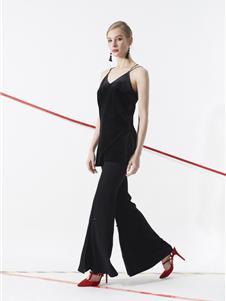 领姿女装领姿2019黑色吊带