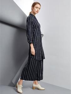 唯简尚2019春夏装条纹套装