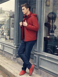 爱迪丹顿2019秋冬装红色外套